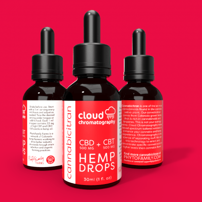 Cloud Chromatography Cannabicitran and Cannabidiol Drops - CBT CBD Drops - Hemp Drops at PhytoFamily CBD