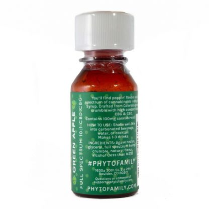 PhytoFamily Full Spectrum Syrup Green Apple Back