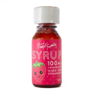 PhytoFamily Full Spectrum Syrup Strawberry Front