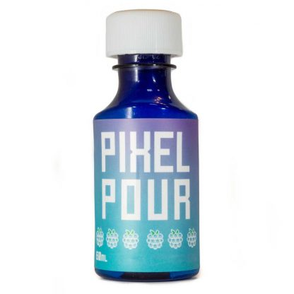 Pixel Pour Full Spectrum Syrup - Blue Raspberry - Front - 200mg