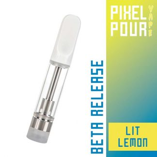 Pixel Pour Vape Cart - CBD Vape Cart - Lit Lemon - Terpene Vape Cart