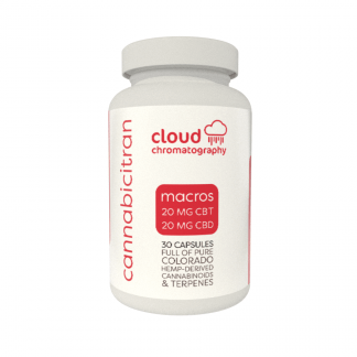 Cloud Chromatography Cannabicitran Capsules - macros 20mg CBT and 20mg CBD - PhytoFamily CBD Capsules