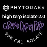 PhytoDabs High Terp Isolate - Grand Daddy Purple - CBD Dabs - PhytoFamily 99% High Terpene Isolate - Terpene Dabs