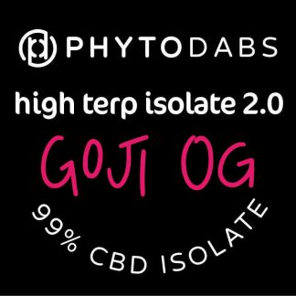 PhytoDabs High Terp Isolate - Goji OG - CBD Dabs - PhytoFamily 99% High Terpene Isolate - Terpene Dabs with Goji OG Terpenes