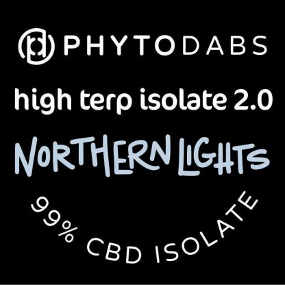 PhytoDabs High Terp Isolate - Northern Lights - CBD Dabs - PhytoFamily 99% High Terpene Isolate - Terpene Dabs with Northern Lights Terpenes