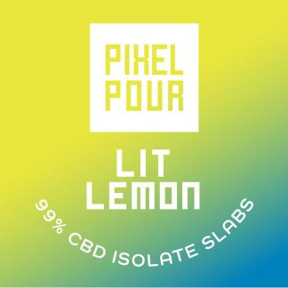 Pixel Pour Slabs - Lit Lemon Slabs - CBD Dabs with Lit Lemon Terpenes - Terpene Dabs