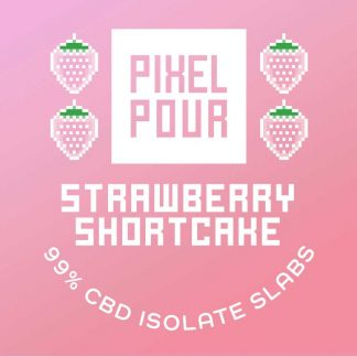 Pixel Pour Slabs - Strawberry Shortcake Slabs - CBD Dabs with Strawberry Shortcake Terpenes - Terpene Dabs