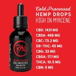Rao Cold Processed Hemp Drops - High CBD Hemp Drops - 2000mg Drops - 1400mg CBD Drops