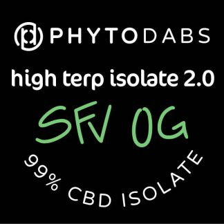 PhytoDabs High Terp Isolate - SFV OG - CBD Dabs - PhytoFamily 99% High Terpene Isolate - Terpene Dabs