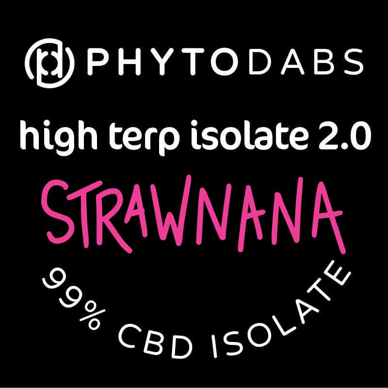 PhytoDabs High Terp Isolate - StrawNana - CBD Dabs - PhytoFamily 99% High Terpene Isolate - Terpene Dabs with StrawNana Terpenes