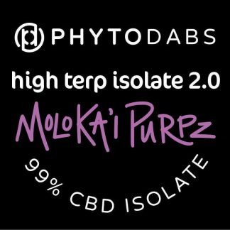 PhytoDabs High Terp Isolate - Moloka'i Purpz - CBD Dabs - PhytoFamily 99% High Terpene Isolate - Terpene Dabs with Moloka'i Purpz Terpenes