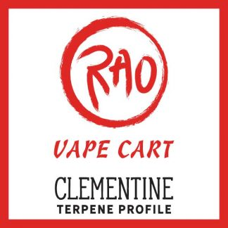 Rao Vape Carts - Clementine Terpenes - Full Spectrum CBD Vapes