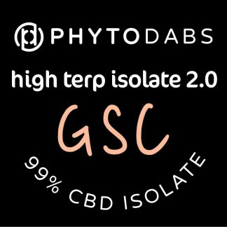 PhytoDabs High Terp Isolate - GSC - CBD Dabs - PhytoFamily 99% High Terpene Isolate - Terpene Dabs with GSC Terpenes