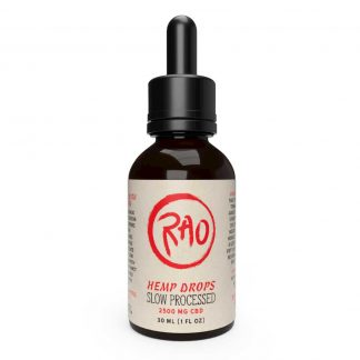 Rao Slow-Processed Drops 2500mg CBD - Full Spectrum CBD Drops - Hemp Drops - CBD Tincture