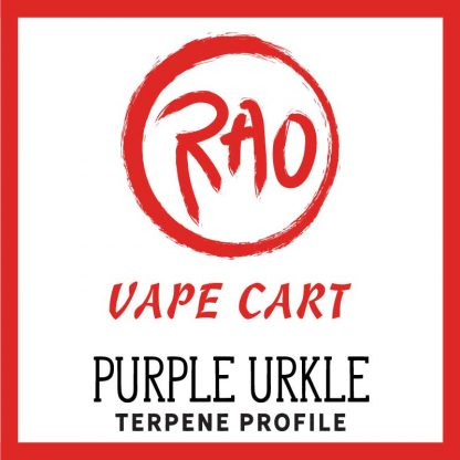 Rao Vape Carts - Purple Urkle Terpenes - Full Spectrum CBD Vapes