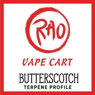 Rao Vape Carts - Butterscotch Terpenes - Full Spectrum CBD Vapes
