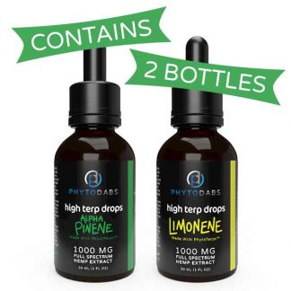 PhytoDabs High Terp Drops 2-Pack: Energizing Terpenes (Limonene + Alpha-Pinene) Full Spectrum CBD Drops