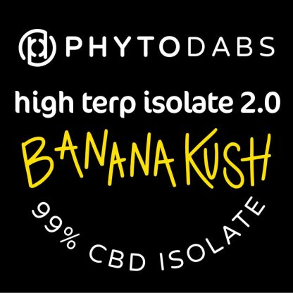 PhytoDabs High Terp Isolate - Banana Kush - CBD Dabs - PhytoFamily 99% High Terpene Isolate - Terpene Dabs with Banana Kush Terpenes