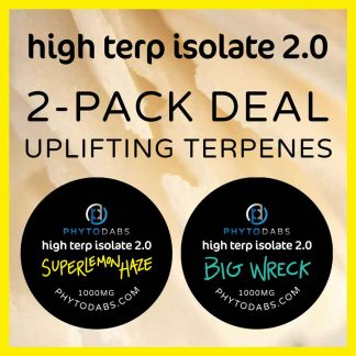 High Terp Isolate CBD Dabs Bundle Deal - Uplifting Terpenes - Super Lemon Haze and Big Wreck Slabs