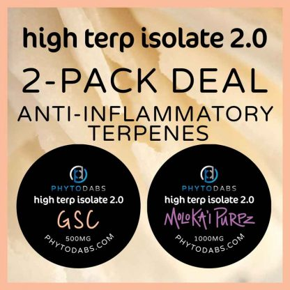 High Terp Isolate CBD Dabs Bundle Deal - Uplifting Terpenes - GSC and Moloka'i Terpene Slabs