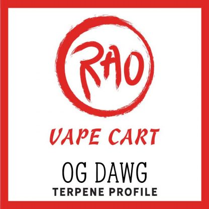 Rao Vape Carts - OG Dawg Terpenes - Full Spectrum CBD Vapes
