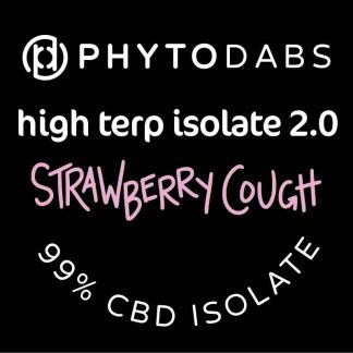 High Terp Isolate 2.0 - 99% CBD Dabs With Terpenes - Strawberry Cough